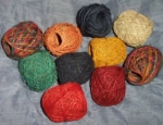 10 x 20 gram Coloured Hemp String