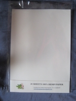 20 SHEETS HEMP PAPER